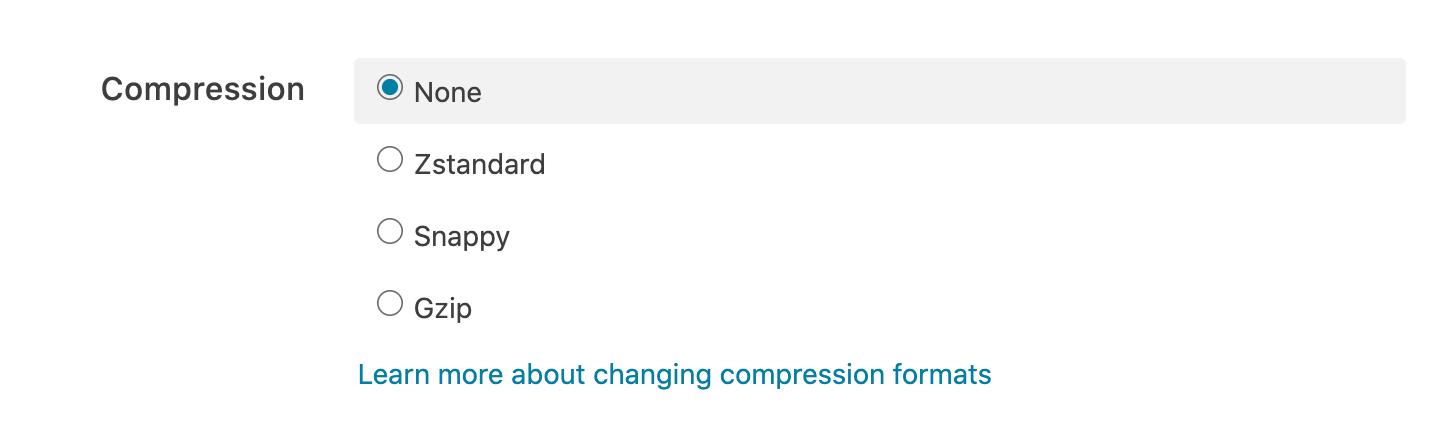 Logging compression options