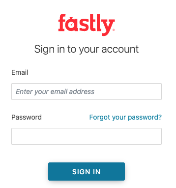 the Fastly login controls