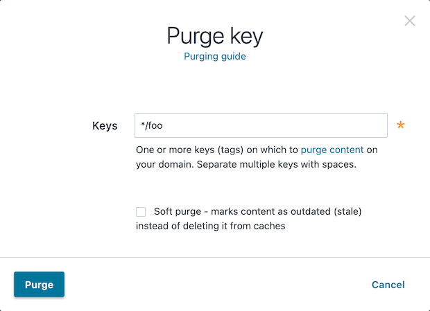 the purge key window