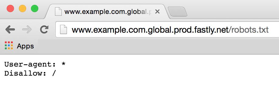 a default robots.txt file